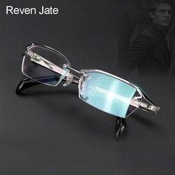 Reven Jate F1143 Vetri Ottici di Titanio Puro Montatura da Vista Occhiali da Vista Rx Uomini Occhiali per Il Maschio Occhiali