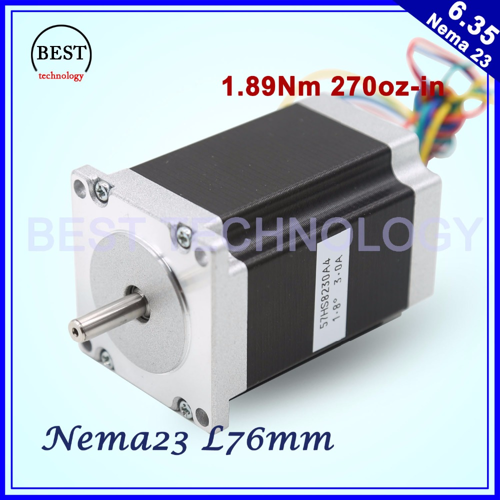 NEMA23 cnc stepper motor 57 x76mm1.89N.m 4-Lead 1.8deg / Nema 23 motor 3A 270Oz-in For CNC machine and 3D printer! Good quality