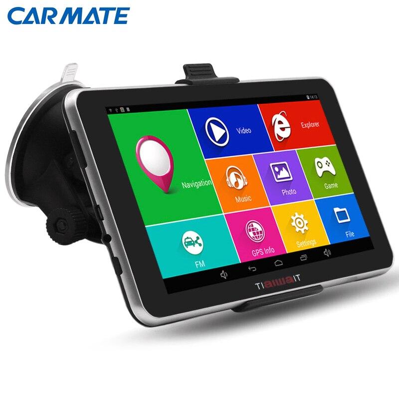 7 Android 4 4 Car font b GPS b font Navigation navigator MT8127A Quad core Bluetooth