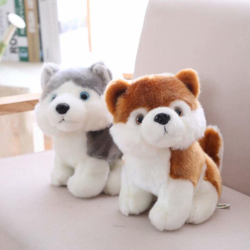 18/23/28cm Cute Simulation Puppy Dog Plush Toy Kids Dolls Husky Akita Saint Bernard Stuffed Soft Toys For Children High Quality