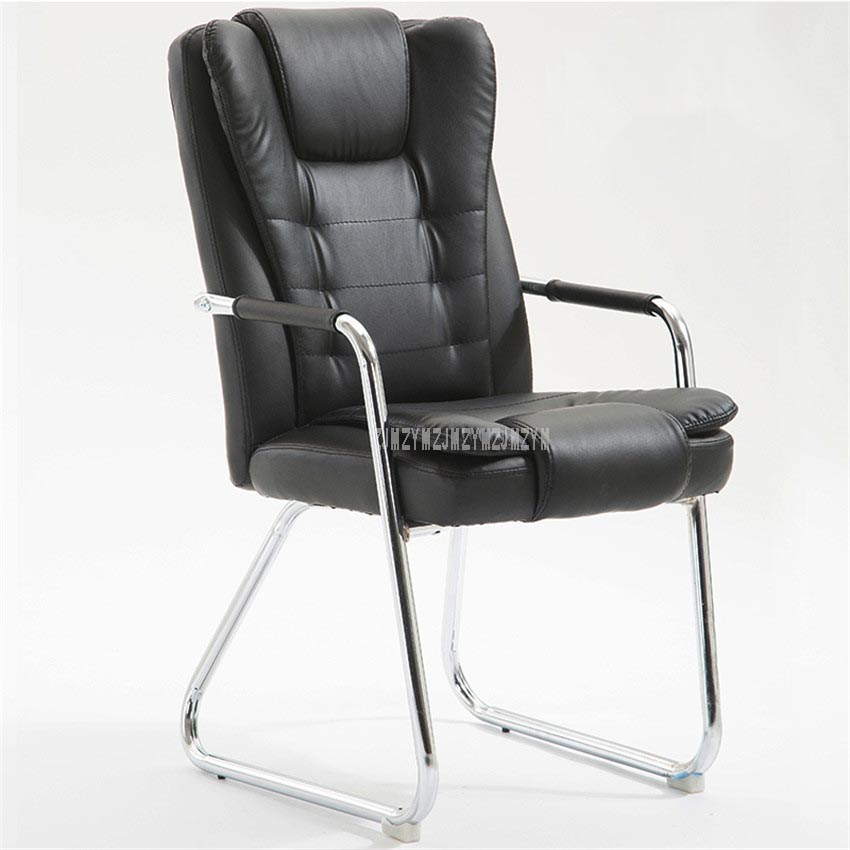 Office Furniture Computer Chair With Armrest Ergonomic PU Leather Soft Padded High Backrest Meeting Conference Office Chair