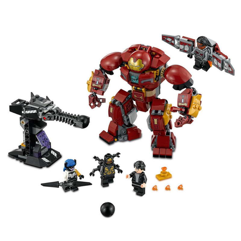 1527pcs Diy Super Heroes Iron Man Anti Hulk Mech Model Building Blocks Compatible With Legoingly Bricks Toys Gift For Children [bainily]511pcs superheroes space station iron man base attack on avengers tower model diy building blocks bricks toys