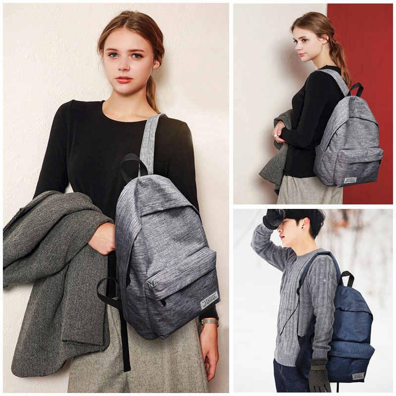 Scione Корейская простая ткань рюкзак мужской/женский школьный рюкзак для ноутбука для подростков рюкзак для кемпинга спортивная сумка