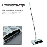 Electric Wireless Vacuum Cleaner Sweeper Manual Hand Push Sweeping Broom 360 Degree Rotation Flexible Cleaner HandHeld