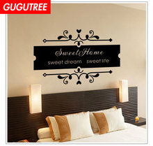 Decoratesweet home letter art wall sticker decoration Decals mural painting Removable Decor Wallpaper LF-1955