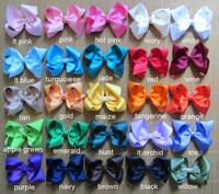 40pcs 6 inch girl bows, big bows, girl bows boutique , 25 colors to choose