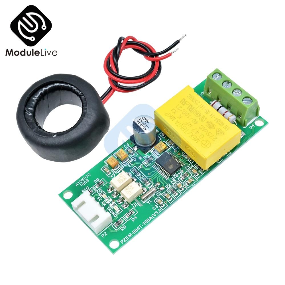 Цифровой многофункциональный измерительный модуль переменного тока, мощность Ватт, вольт, усилитель тока, тестовый модуль, для Arduino, TTL COM2/COM3...