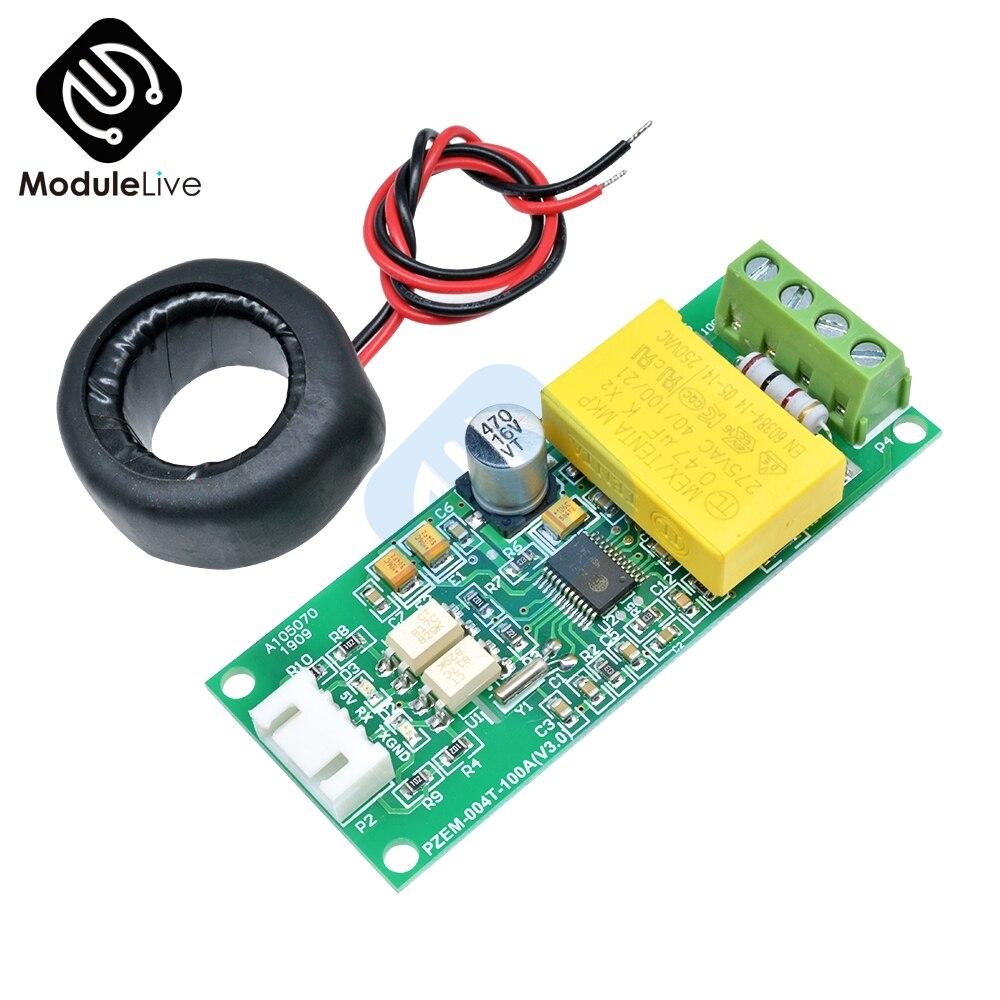 AC цифровой многофункциональный измерительный ватт мощность вольт ампер ток тестовый модуль PZEM-004T для Arduino ttl COM2  COM3  COM4 0-100A 80-260 в
