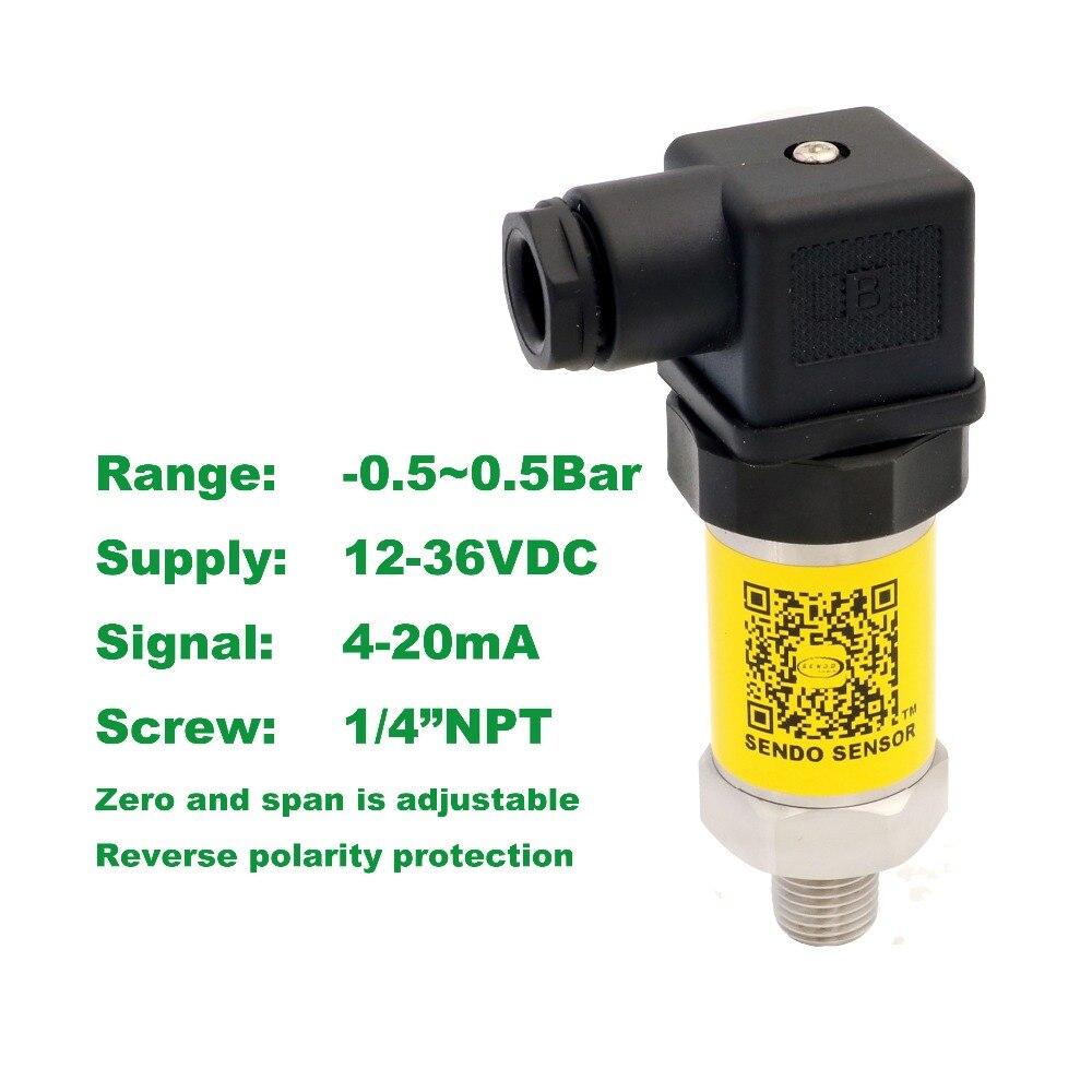 4 20mA drucksensor, 12 36 V liefern, 0,5 ~ 0.5bar, 50 ~ Kpa, 1/4 ...
