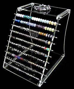 1 pièces nouvelle europe troll charmes perles bijoux présentoir cas et affichages noirs 25*22*25 cm