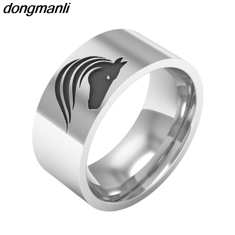 P796 Dongmanli New fashion jewelry Brand Design Animal Jewelry High Quality Horse Rings For Women For Men 2017