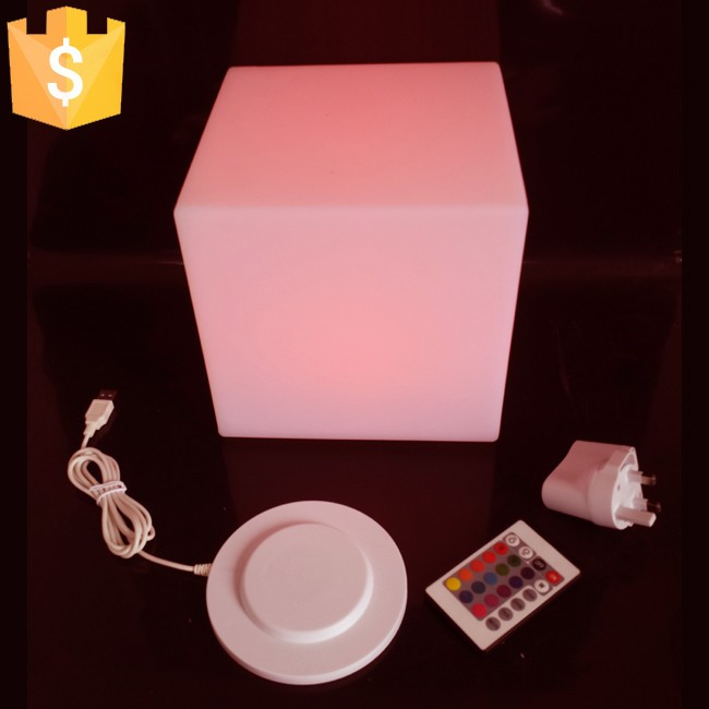 30cm LED Light Cube lumineux LED rechargeable cube illuminated cube chair free shipping 30pcs/lot free shipping 30 30 30cm rechargeable wireless remote led inductive charging cube chair bar cube chair