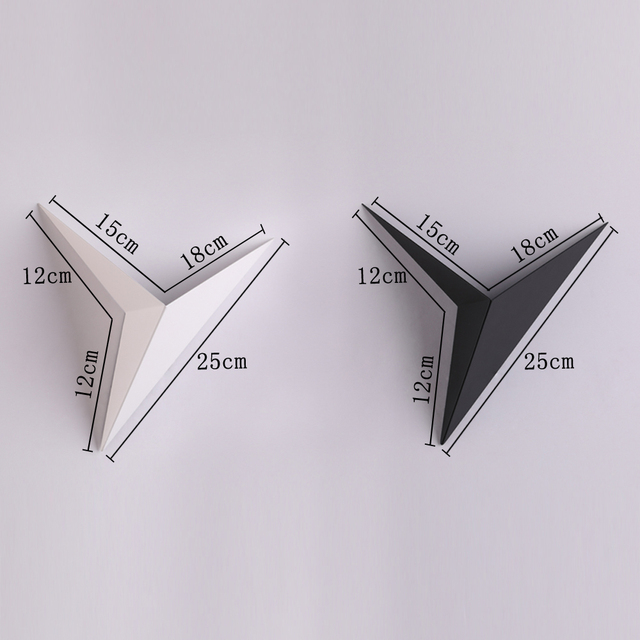 Modern minimalist triangle shape LED Wall Lamps  Nordic style Indoor Wall Lamps Living Room Lights 3W AC85-265V Simple Lighting 1