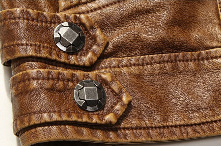 PU Leather Jacket Men 2016 Fall Winter Fashion Faux Fur Bomber Motercycle Biker Jacket High Quality Plus Velvet Casual Outwear (10)