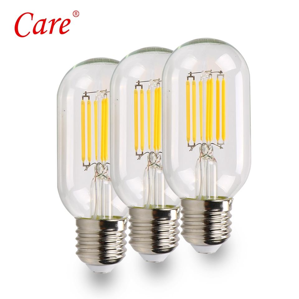 8PCS LED Decoration Filament Bulbs T45 Clear Vintage Edison Light Bulb 8W E27 3000K Edison Lighting Bulbs LED Lighting Lamp