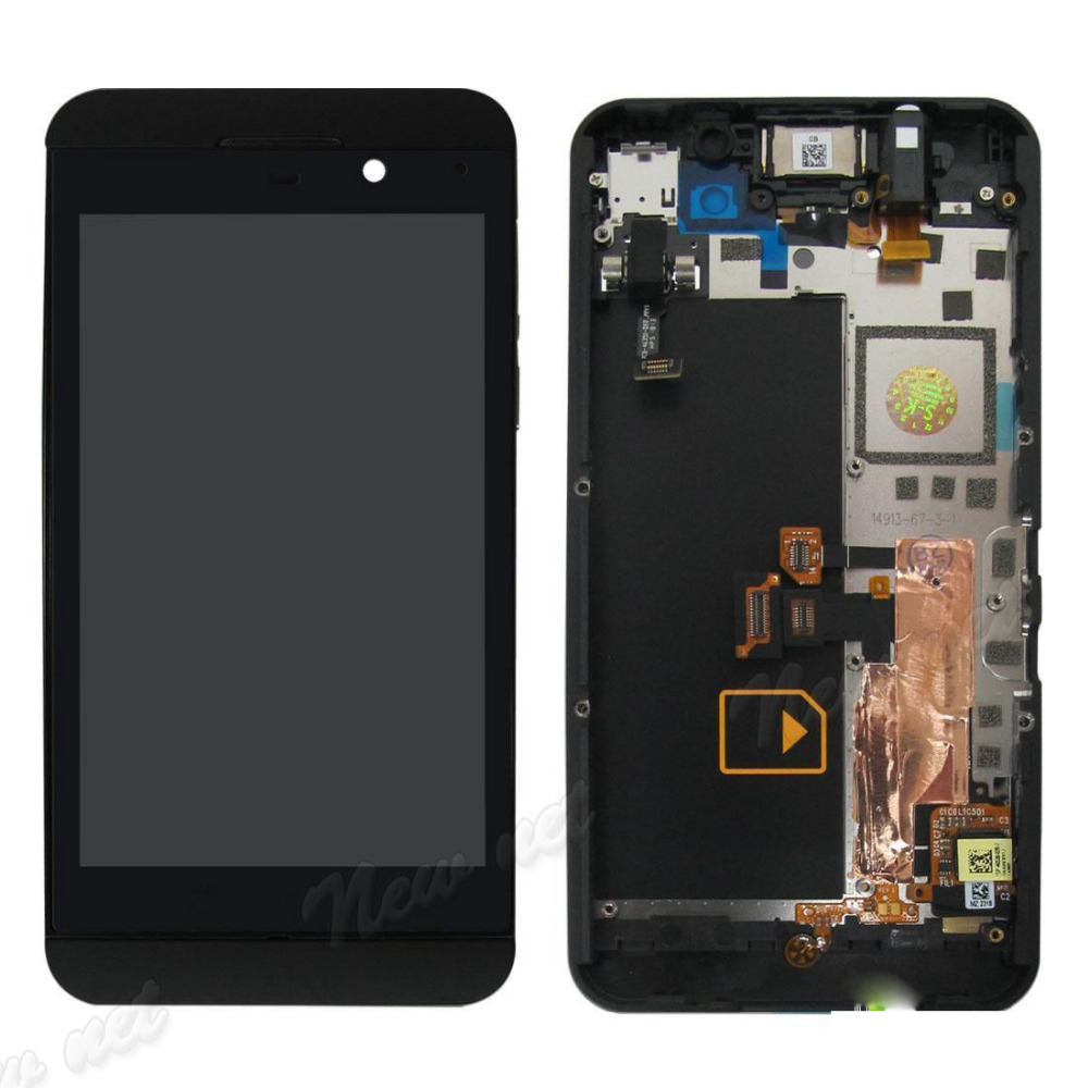 Free Shipping 2015 high quality Front LCD Display Touch Screen Digitizer Assembly For Blackberry Z10 4G