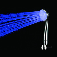 Excellent Handheld 7 Color LED Romantic Light Water Bath Home Bathroom Shower Head ABS Material and Chrome Finish