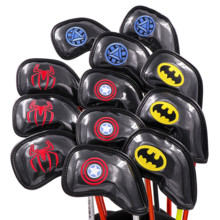 Buy 2019 CHAMPKEY Marvel Batman Golf Iron Headcover 12 PCS/SET Premium Polyurethane Plus Memory Material Club Covers directly from merchant!