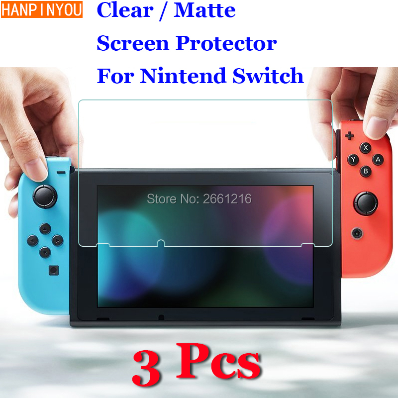 3 Pcs/Lot For Nintend Switch Nintendo NS NX New HD Clear / Anti-Glare Matte Front Screen Protector Touch Film Protection Skin