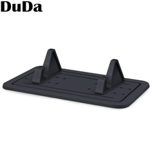 DuDa Silicon Mobile Phone Universal Support Telephone Voiture Holder for Xiaomi Huawei iphone x Desktop Mount Stand