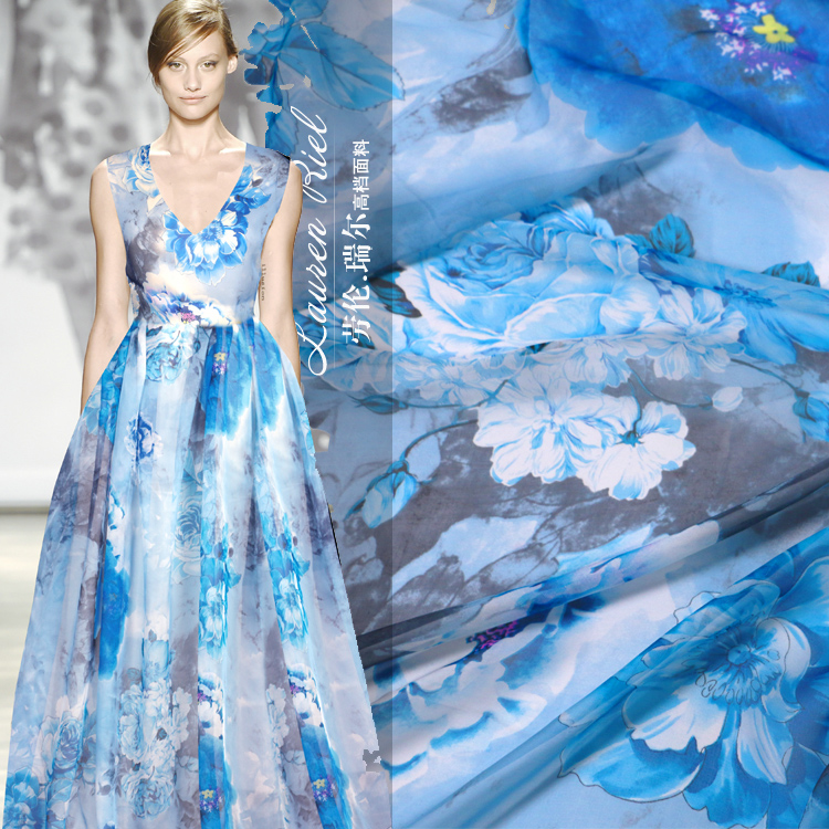 Digitale inkjet seide chiffon stoff DIY schal kleid stoff seide tüll ...