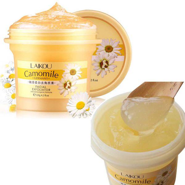 120g Facial Cleanser Natural Organic Facial Exfoliator Exfoliating Cream Whitening Peeling Cream Gel Face Facial Scrub Removal 5