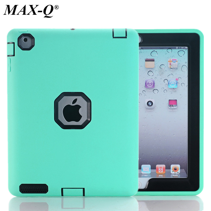 Shockproof TPU+PC Case for Apple iPad 4 3 2 9.7 Kids Safe Luxury Armor Heavy Duty Rugged Back Hard Cover Cases for iPad 2/3/4