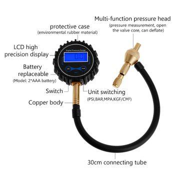 2 в 1 Профессиональный Специальный Патрон цифровой Быстрый воздушный компрессор для шин манометр 4WD 4X4 внедорожный автомобиль 10166