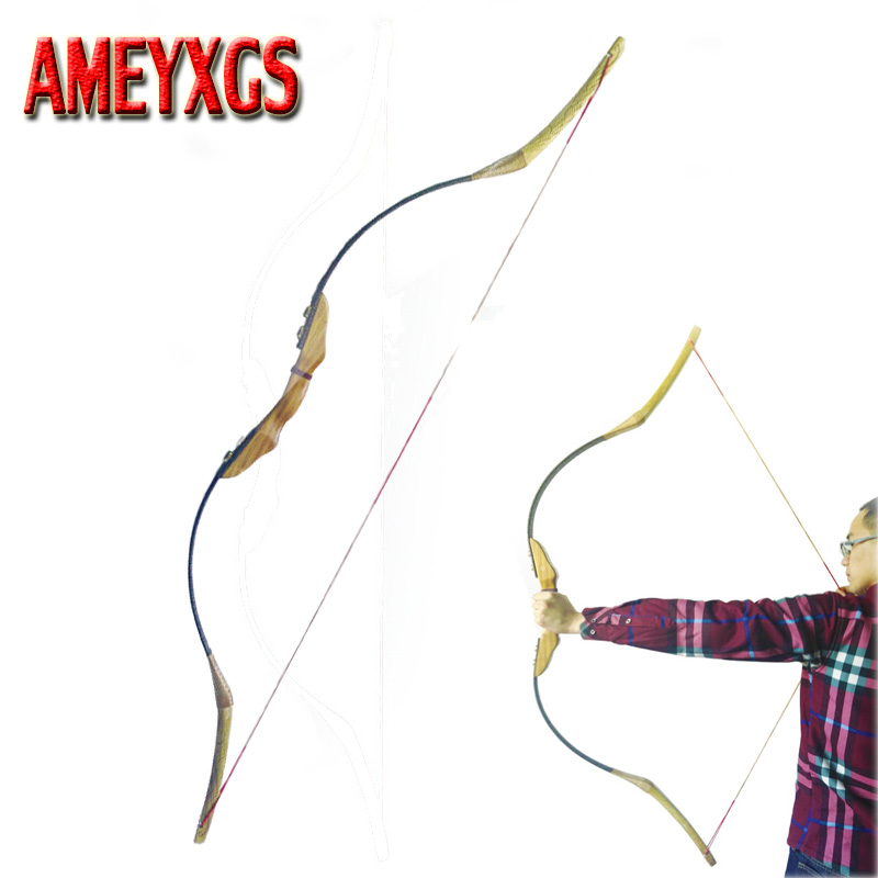 60 дюймов стрельба из лука демонтаж лук деревянный традиционный лук 30-50lbs изогнутый лук охотничий аксессуар