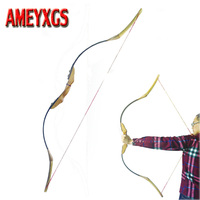 60 Inch Archery Takedown Bow Wood Traditional Bow 30 50lbs Recurve Bow Hunting Accessory