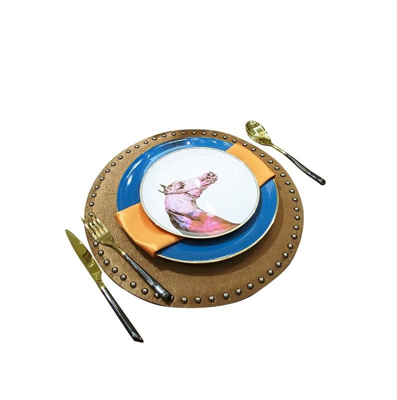 Tête de cheval vaisselle/assiettes à dîner ensemble de 7 pièces