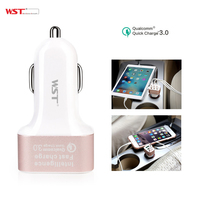 Quick Charge 3 0 USB Car Charger 3 Power Ports Cell Phone Car Charger 5V 9V