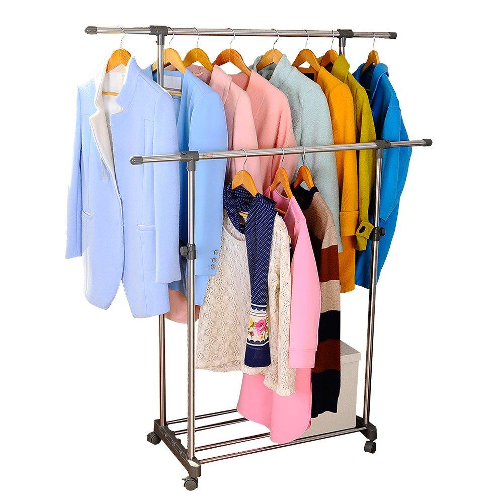 Double Rail Coat Stand Garment Rack