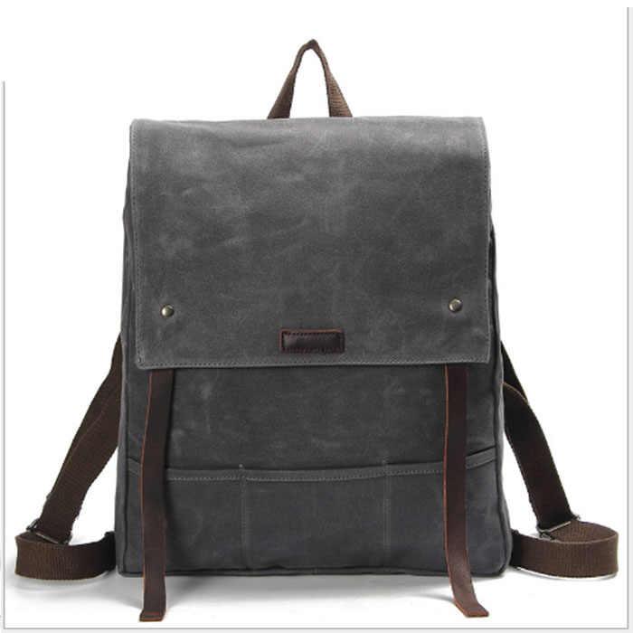 Новая мода холщовые мужские рюкзаки мужские дорожные сумки Винтажный стиль дизайн школьный повседневный рюкзак для ноутбука mochila masculina хаки