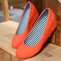 Японских сладостей стиль удобные круглым носком туфли на высоком каблуке мода металл черный синий , зеленый , оранжевый розовый мед-пятки клиньями женская обувь большого размера