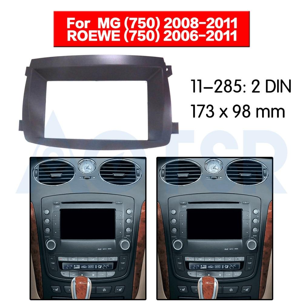 Panneau Surround de garniture de voiture 2 Din pour MG (750) 2008-2011 pour ROEWE (750) 2006-2011 Kit de cadre de plaque de lunette de montage de Fascia
