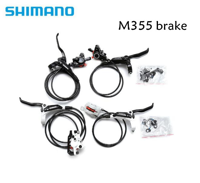 SHIMANO BR-BL-M355 M355 Hydraulic MTB Mountain Bike Bicycle Disc Brake Set Front & Rear Calipers Left & Right Levers RT56 rotor