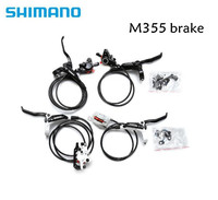 SHIMANO BR BL M355 M355 Hydraulic MTB Mountain Bike Bicycle Disc Brake Set Front & Rear Calipers Left & Right Levers RT56 rotor