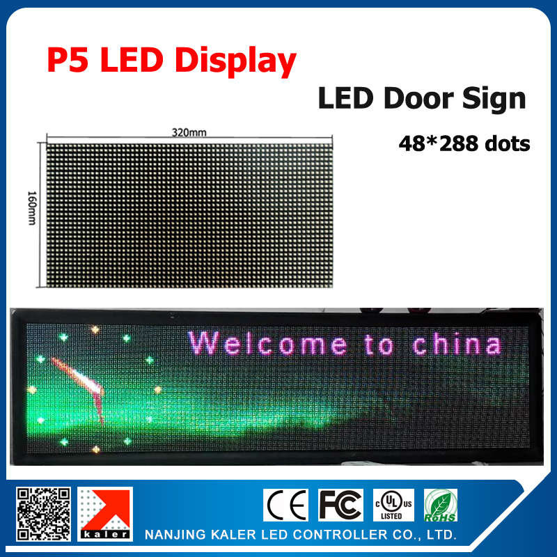 TEEHO 48*288pixel LED Sign P5 Unit Board 64 * 32 Dot Matrix LED Display Screen P5mm Module 320*160mm For Store Advertising