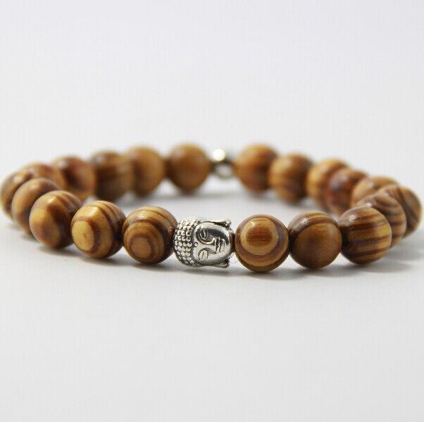 Duft Holz Perlen Armband Männer Und Frauen 10mm Legierung Buddha Kopf Alte Gold Alte Silber Lion Leopard Schädel Armband B0106 Wir Haben Lob Von Kunden Gewonnen