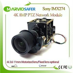 Image 1 - H.265 4K 8MP UHD Sony IMX274 sensörü IP PTZ ağ güvenlik kamerası modülü kurulu mükemmel gündüz ve gece görüş Onvif 3.6 11mm Lens