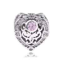 Dodocharms Autumn Winter Collection Opulent Heart Charm 925 Sterling Silver Bead Fit Orignal Pandora Charm Bracelet