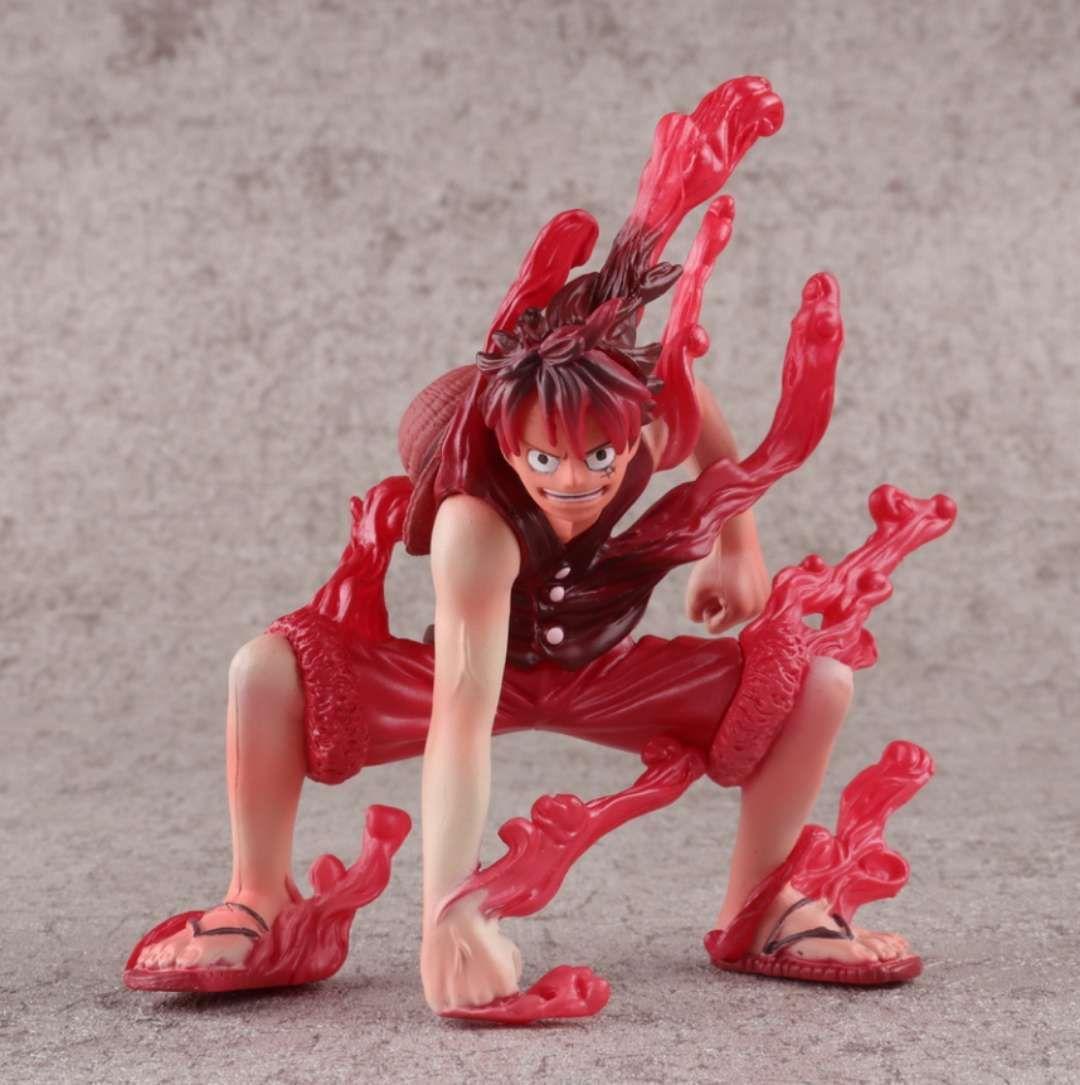 4pcs/set One piece red lufy Sir Crocodile figure Kuzan model саундбар dali kubik one red