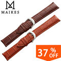 MAIKES New Arrival Watch Band 18mm 20mm 22mm 24mm Men & Women Genuine Calf Leather Watch Strap Watches Bracelet Belt Accessories