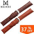 Maikes nueva llegada venda de reloj 18mm 20mm 22mm 24mm hombres y de las mujeres del Cuero Genuino del Becerro Correa de Reloj Relojes de Pulsera de La Correa accesorios