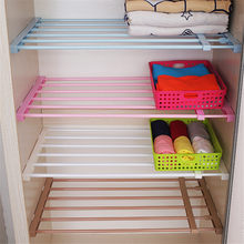 Durable Storage Holder Rack Nail-Free Scalable Partition Shelves For Wardrobe Separator(China)