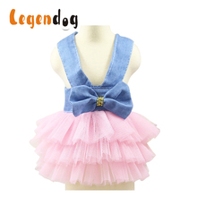 2018 Spring and Summer Pet Dog Skirt Dress Princess Party Dress Wedding Cute Pink for Small Medium Pet S- XXL Cat Chihuahua 8in1 cat stain and odor exterminator nm jfc s