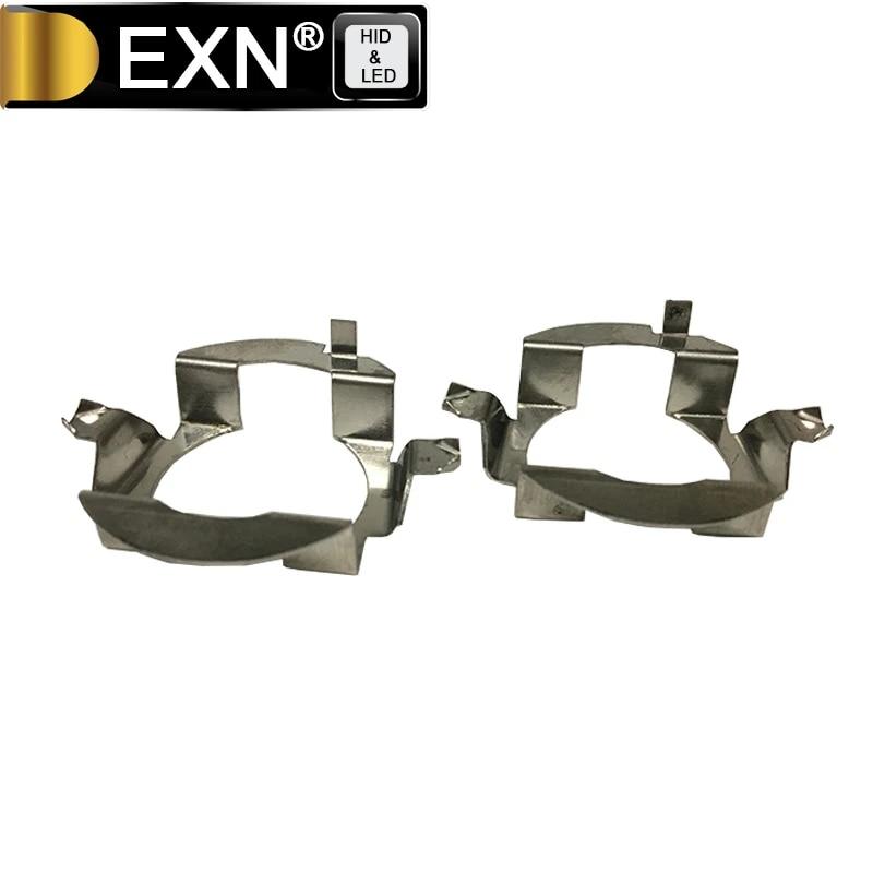 Halogen Capsule Headlight Bulbs Metal Clip Holders Adapters Retainer 2X H7 LED