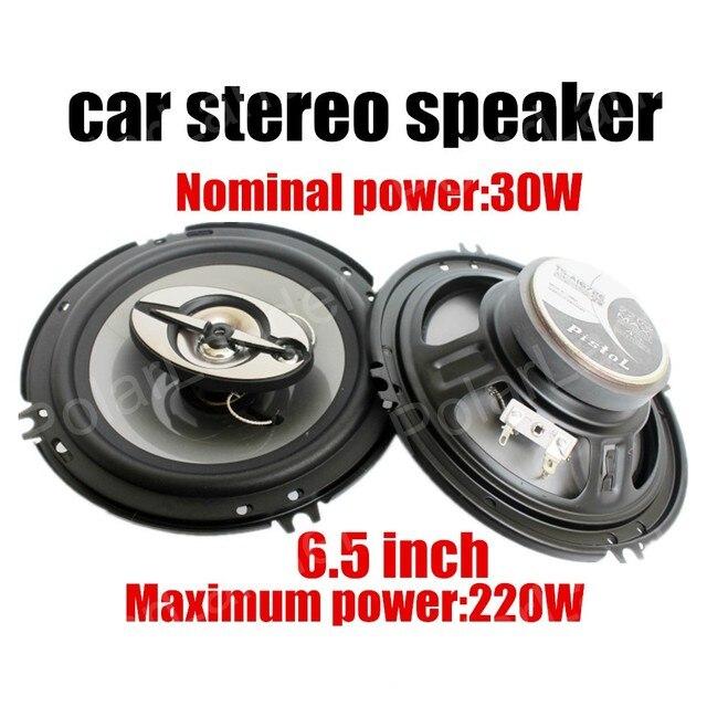 Coche de audio de un par de 6.5 pulgadas coche altavoces coaxiales coche max power music de altavoces estéreo de audio 220 W con tweeter bajos función