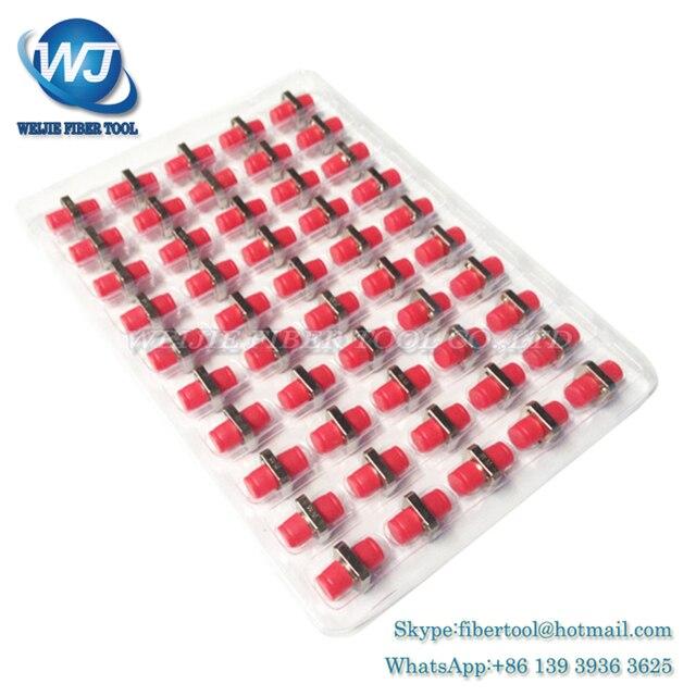 Newest 50PCS The telecommunication level FC square flange FC-FC optical fiber coupler adapter FC optical fiber adapters